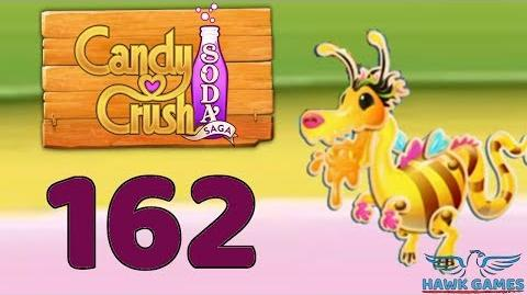 Candy Crush Soda Saga 🍾 Level 162 Hard (Honey mode) - 3 Stars Walkthrough, No Boosters