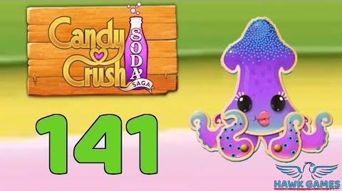 Candy Crush Soda Saga 🍾 Level 141 (Soda mode) - 3 Stars Walkthrough, No Boosters
