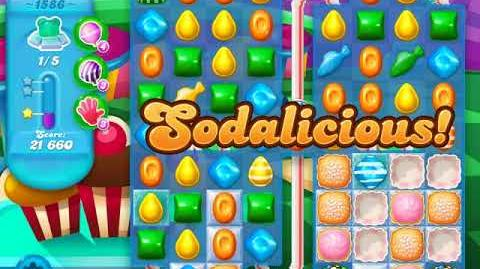 Candy Crush Soda Saga Level 1586 (buffed, 3 Stars)