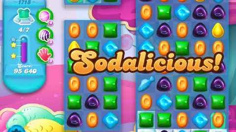 Candy Crush Soda Saga Level 1718 (buffed, 3 Stars)