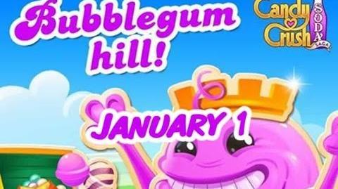 Candy Crush Soda Saga - Bubblegum Hill - January 1