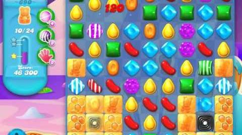 Candy Crush Soda Saga Level 690 (buffed, 3 Stars)