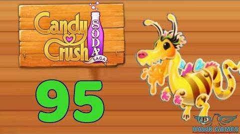 Candy Crush Soda Saga Level 95 (Honey mode) - 3 Stars Walkthrough, No Boosters
