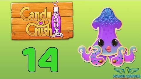 Candy Crush Soda Saga Level 14 (Bubble mode) - 3 Stars Walkthrough, No Boosters