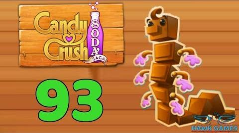 Candy Crush Soda Saga Level 93 (Chocolate mode) - 3 Stars Walkthrough, No Boosters