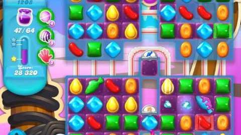 Candy Crush Soda Saga Level 1208 (nerfed, 3 Stars)