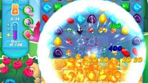 Candy Crush Soda Saga Level 871 (5th version, 3 Stars)