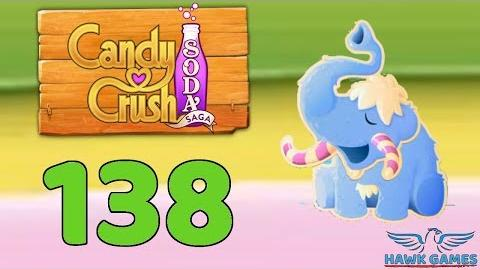 Candy Crush Soda Saga 🍾 Level 138 (Frosting mode) - 3 Stars Walkthrough, No Boosters