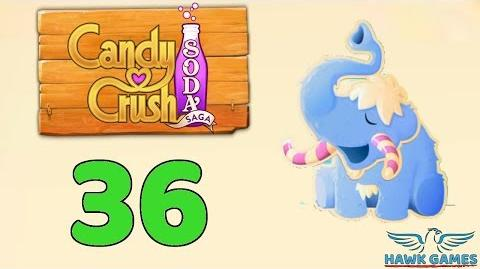 Candy Crush Soda Saga Level 36 (Frosting mode) - 3 Stars Walkthrough, No Boosters