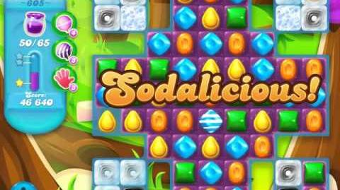 Candy Crush Soda Saga Level 605 (2nd nerfed, 3 Stars)