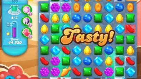 Candy Crush Soda Saga Level 105 (6th version, 3 Stars)