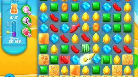 Candy Crush Soda Saga Level 1384 (2nd nerfed, 3 Stars)