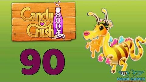 Candy Crush Soda Saga Level 90 Hard (Honey mode) - 3 Stars Walkthrough, No Boosters