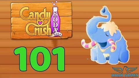 Candy Crush Soda Saga Level 101 (Frosting mode) - 3 Stars Walkthrough, No Boosters