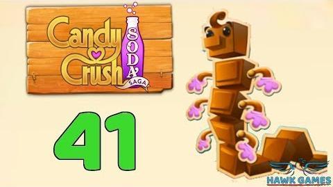 Candy Crush Soda Saga Level 41 (Chocolate mode) - 3 Stars Walkthrough, No Boosters