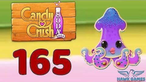 Candy Crush Soda Saga 🍾 Level 165 Super Hard (Soda mode) - 3 Stars Walkthrough, No Boosters
