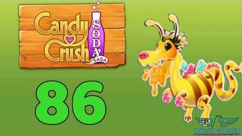 Candy Crush Soda Saga Level 86 (Honey mode) - 3 Stars Walkthrough, No Boosters