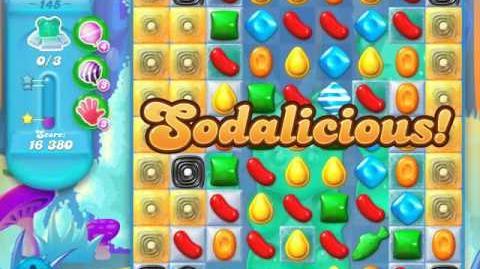 Candy Crush Soda Saga Level 145 (8th version, 3 Stars)
