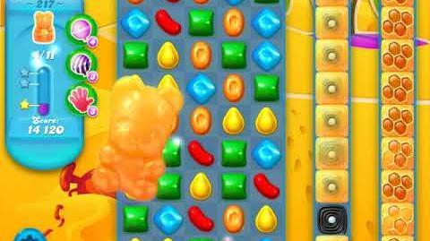Candy Crush Soda Saga Level 217 (buffed, 3 Stars)