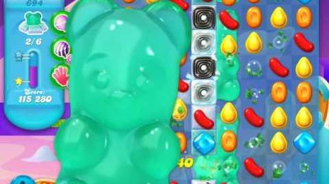 Candy Crush Soda Saga Level 694 (2nd buffed, 3 Stars)