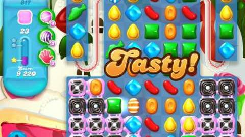 Candy Crush Soda Saga Level 817 (nerfed, 3 Stars)