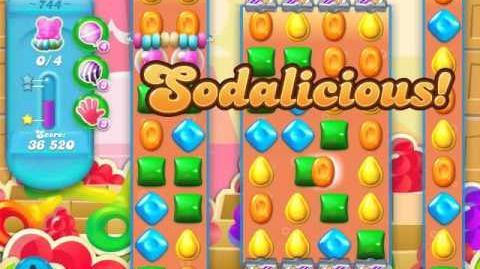 Candy Crush Soda Saga Level 744 (buffed, 3 Stars)