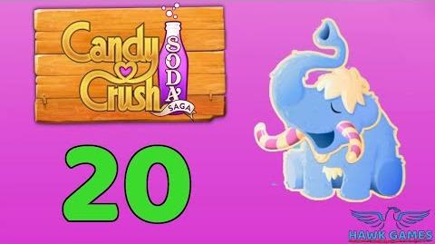 Candy Crush Soda Saga Level 20 (Frosting mode) - 3 Stars Walkthrough, No Boosters