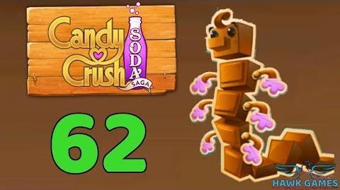 Candy Crush Soda Saga Level 62 (Chocolate mode) - 3 Stars Walkthrough, No Boosters