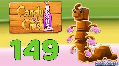 Candy Crush Soda Saga 🍾 Level 149 (Chocolate mode) - 3 Stars Walkthrough, No Boosters