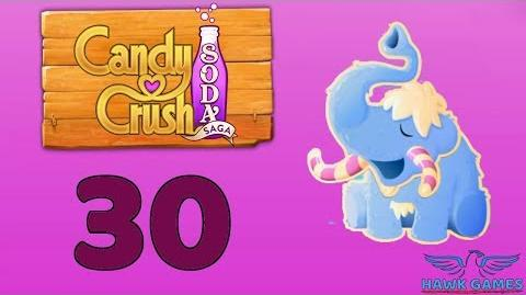 Candy Crush Soda Saga Level 30 Hard (Frosting mode) - 3 Stars Walkthrough, No Boosters