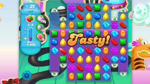 Candy Crush Soda Saga - Level 176 - No boosters