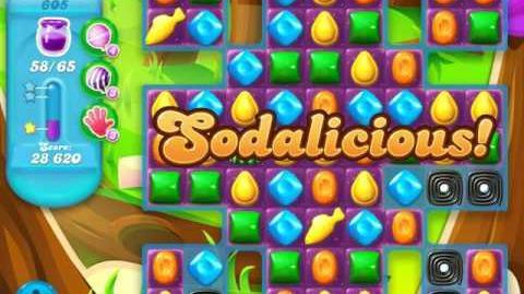 Candy Crush Soda Saga Level 605 (7th version, 3 Stars)