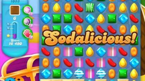 Candy Crush Soda Saga Level 1058 (buffed, 3 Stars)