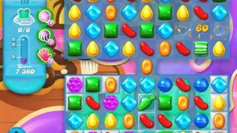 Candy Crush Soda Saga Level 115 (10th version, 3 Stars)