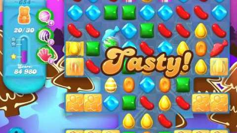 Candy Crush Soda Saga Level 654 (nerfed)