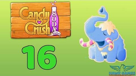 Candy Crush Soda Saga Level 16 (Frosting mode) - 3 Stars Walkthrough, No Boosters-0