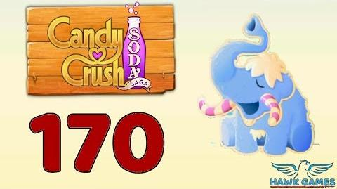 Candy Crush Soda Saga 🍾 Level 170 Super hard (Frosting mode) - 3 Stars Walkthrough, No Boosters