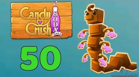 Candy Crush Soda Saga Level 50 (Chocolate mode) - 3 Stars Walkthrough, No Boosters