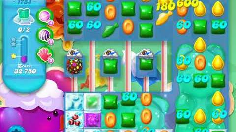 Candy Crush Soda Saga Level 1734 (buffed)