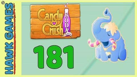 Candy Crush Soda Saga Level 181 (Frosting mode) - 3 Stars Walkthrough, No Boosters