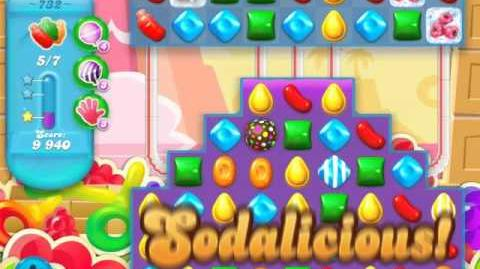 Candy Crush Soda Saga Level 732 (buffed)