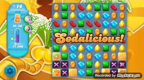 Candy Crush Soda Saga Level 510 (nerfed, 3 Stars)