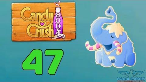 Candy Crush Soda Saga Level 47 (Frosting mode) - 3 Stars Walkthrough, No Boosters