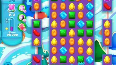 Candy Crush Soda Saga Level 670 (10th version, 3 Stars)