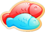 Double Delish Fish Icon