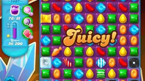 Candy Crush Soda Saga Level 1407 (4th version, 3 Stars)