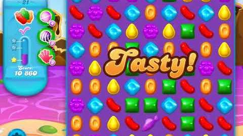 Candy Crush Soda Saga Level 21 (5th version, 3 Stars)