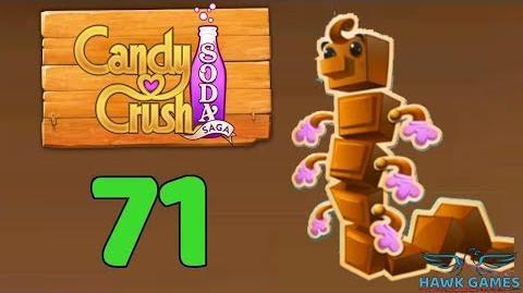 Candy Crush Soda Saga Level 71 (Chocolate mode) - 3 Stars Walkthrough, No Boosters