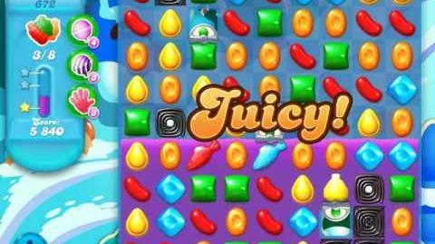 Candy Crush Soda Saga Level 672 (buffed, 3 Stars)
