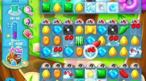 Candy Crush Soda Saga Level 586 (nerfed, 3 Stars)